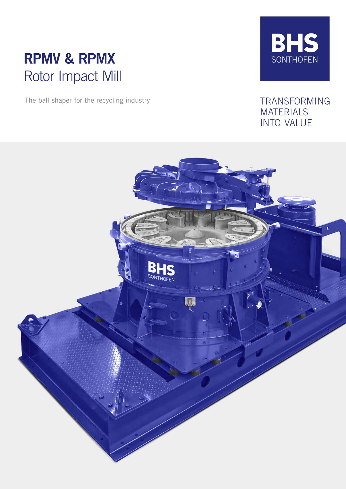 """Rotor impact mill for recycling (RPMV & RPMX)"" brochure"